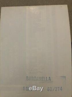 ORIGINAL one sheet movie poster BARBARELLA Jane Fonda 27x41 1968 very fine