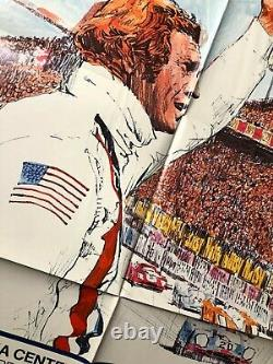 Original 1971 Steve McQueen LE MANS movie poster ONE SHEET very fine RARE racing