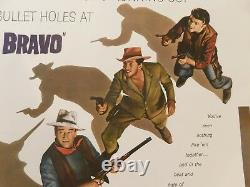 RIO BRAVO Original 1959 Movie Poster, 27 x 41, C8.5 Very Fine/Near Mint