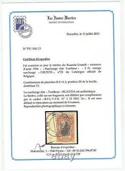 Ruanda Urundi 1916 Belgian Congo 5Fr overprinted URUNDI in violet very fine used