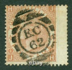 SG 121 2/- brown. Very fine used with a London'EC62' numeral (Harrow)