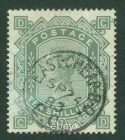 SG 135 10/- greenish-grey, watermark anchor on white paper. Very fine used