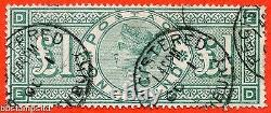 SG. 212. K17. £1.00 Green ED. A Very fine used example