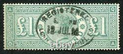 SG212 One Pound Green Very Fine used Cat 800 pounds