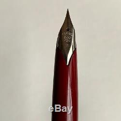Sailor Silver Fountain Pen 18K-WG White Gold Fine F Nib Vintage 1970 Very Rare