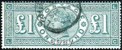 Sg 212 £1 Green. A very fine used example with London cds