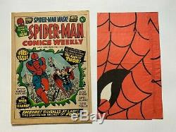 Spiderman Comics Weekly No 1 1973 + Free Gift Spider-man Mask Very Fine+