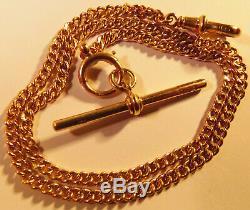 Stunning Rare Very Fine Antique Solid 18ct Albert Watch Chain/Bracelet
