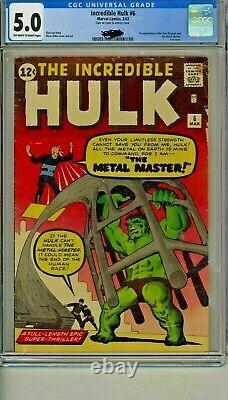 THE HULK #6 (March 1963) CGC 5.0 Very Good/Fine Cents copy Incredible Jack Kirby