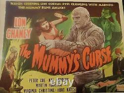 THE MUMMY'S CURSE Original R-1951 Title Lobby Card, 11 x 14, C8 Very Fine