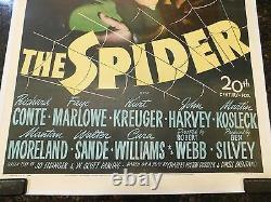 THE SPIDER Original 1945 Movie Poster, 27 x 41, C8.5 Very Fine to Near Mint