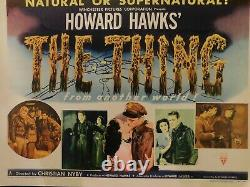 THE THING Original 1951 Movie Poster, 22 x 28, C8.5 Very Fine to Near Mint