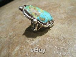 VERY FINE Navajo PLATERO Sterling Silver PREMIUM Royston Turquoise Ring 7.5
