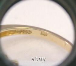 VERY NICE CULTURED AKOYA PEARL 5.93 mm. & BAGUETTE DIAMONDS 10K GOLD RING