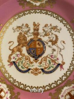 VERY RARE Royal Collection Fine Bone China Great Exhibition 1851 Pink Plate