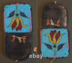 Very Fine 1880 1900 Native American Yakama Nez Perce Beaded Belt Pouch
