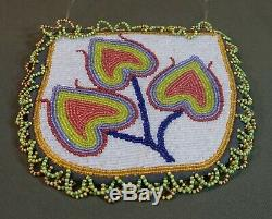 Very Fine 1920's Native American Warm Springs Umatilla Fully Beaded 2 Sided Bag