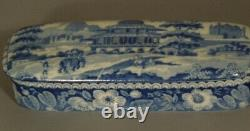 Very Fine Antique Blue Staffordshire Pen Holder, Early 19th century