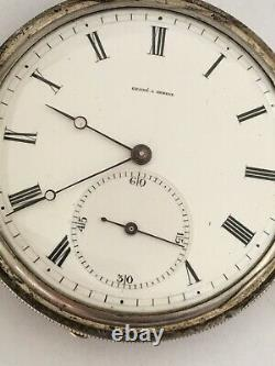Very Fine Antique Key-wind Slim Silver Pocket Watch Signed Grohe A Geneve