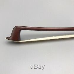 Very Fine Camilo Herculano Violin Bow- Silver Mounted- Hand Made In Brazil Pernm