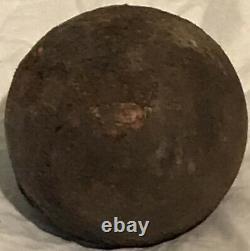 Very Fine Civil War Iron Cannon Ball Just Under 3 Diameter Superb Patina