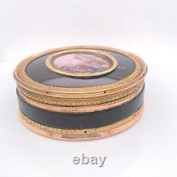 Very Fine Dark Tortoiseshell and Gold Snuff Box