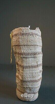 Very Fine Early 1900 Native American Northwest Wasco Soft Twine Basket