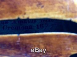 Very Fine Flamed Back Antique Violin Nic Amatus Label Czech