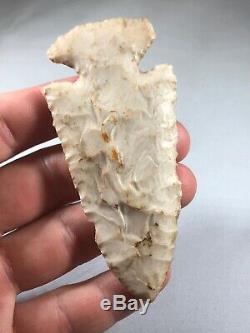 Very Fine Glossy Burlington Chert Archaic Thebes Arrowhead Indian Artifact