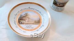 Very Fine KPM Berlin Named Porcelain Topographical Scenic cup saucer c1826