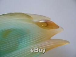 Very Fine Multi-Color Art Glass Orchid Bowl Dish by Daum France