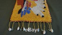 Very Fine Native American Nez Perce Yakama Umatilla Beaded Bag Indian Chief