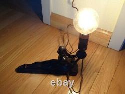 Very Fine Original 1923 Art Deco Vintage Electrolite Products Co Nude Lady Lamp