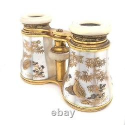 Very Fine Pair of French Lacquer and Mother of Pearl Opera Glasses