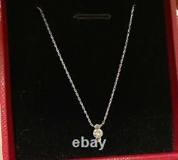 Very Fine Solid White Gold And Diamond Pendant Necklace