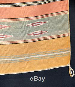 Very Fine Weave Navajo Vegetal Dyes Chinle Classic Revival c. 1960 52 x 32