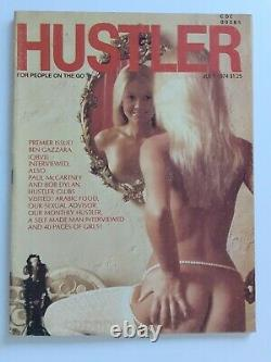 Very Rare Hustler Magazine First Issue #1 July 1974 very fine condition Playboy