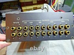 Very Rare Old School Mcintosh Men456 Electronic Crossover 12 Outputs Works Fine