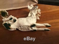 Very Rare Vtg Beautiful Fine Porcelain Dog Figurine