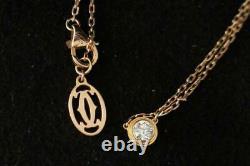 Very fine Cartier Chain Necklace 18 K (750) Gold & Diamond Pendant