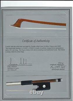 Very fine FRENCH cello bow by ALFRED LAMY/Salchow certificate