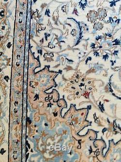 Very fine Handmade Nain Rug SILK AND WOOL 220 cm x 138 cm 7' 2 x 4' 5