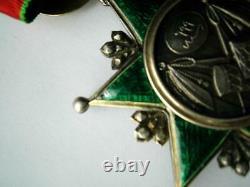 Very fine Ottoman Order of Osmanieh Neck badge medal 3rd cl silver gilt & enamel