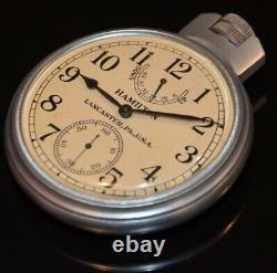 Very fine WW2 Hamilton Model 22 Chronometer US Navy Bureau Ships 1942 Runs Great