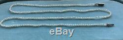 Very fine antique Victorian necklace natural pearl withgold barrel catch clasp