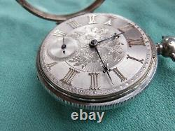 Very fine silver dial fusee watch 1848 full service perfect working order