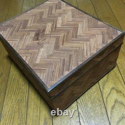 Very rare Ralph Lauren finely woven wood cigar box good condition smells good