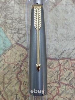 Vintage Parker Vp Very Personal Fountain Pen Black Steel Cap 65 Fine Nib 14k