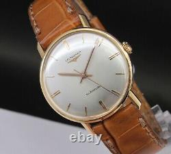 Vintage & Very Fine LONGINES Automatic, 18 kts solid gold, made in 50's