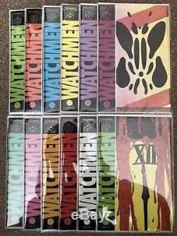 WATCHMEN #1-12 1986 Complete Series Alan Moore DC Comics STORED IN MYLAR